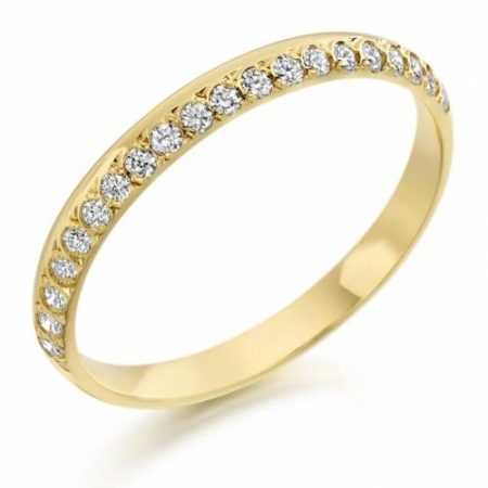 Ladies Yellow Gold Diamond Wedding Ring