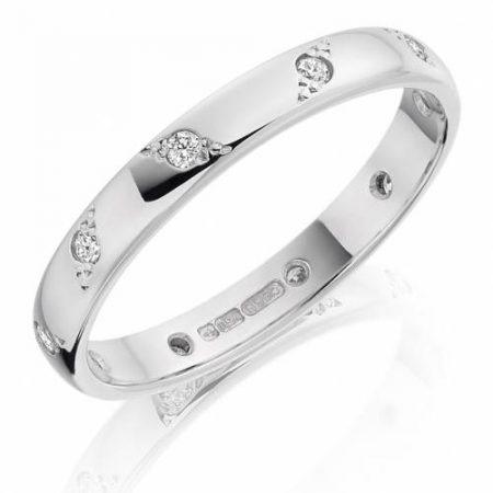 Ladies Platinum Diamond Wedding Ring