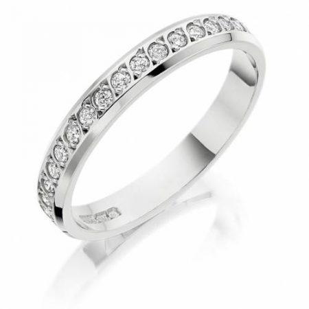 Ladies White Gold Diamond Wedding Ring