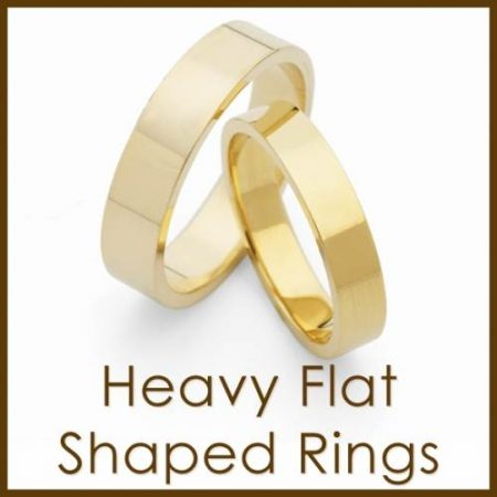 Heavy Flat Shaped Rings
