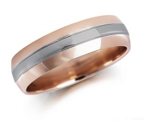 Gold Gents Patterned Ring