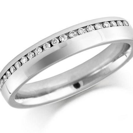Silver Ladies Diamond Ring
