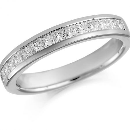 Silver Ladies Diamond Ring