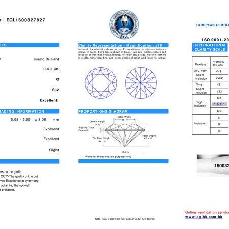 Stella 0.69ct Brilliant Cut Diamond Solitaire Engagement Ring
