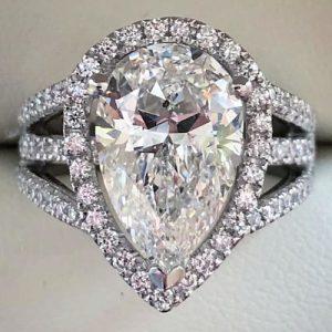 Bespoke Pear Engagement Ring