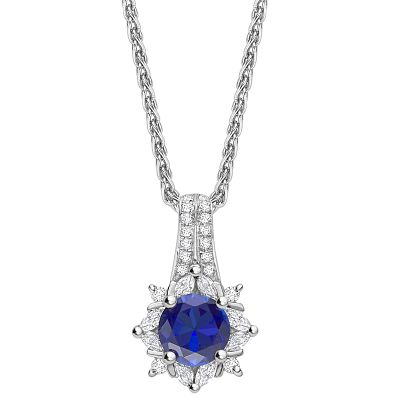 Bespoke Diamond Sapphire Necklace