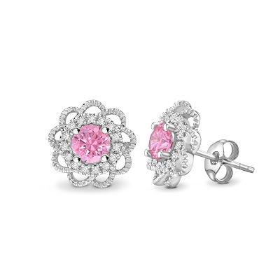 Bespoke Pink Diamond Earings