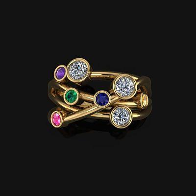 Bespoke Ring Coloured Gemstones