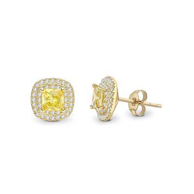 Bespoke Yellow Diamond Earings