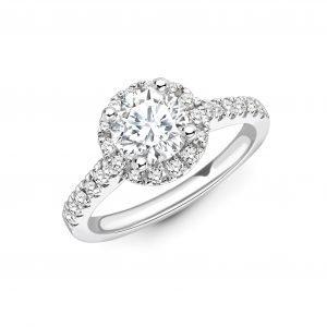 Valentina 0.43 Carat Diamond Engagement Ring in White Gold