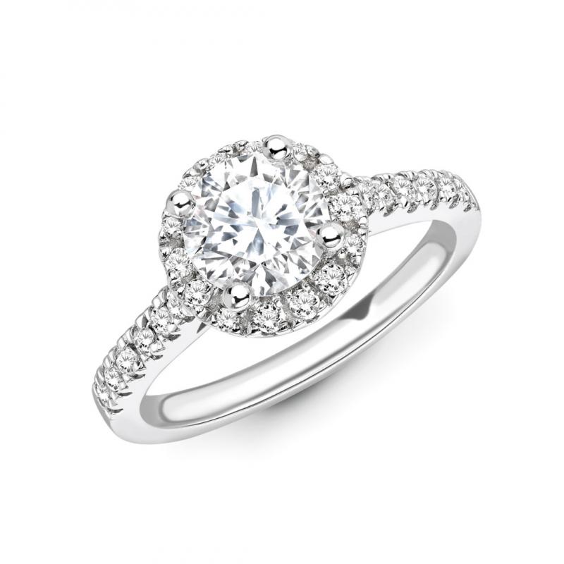 Valentina 1.36 Carat Brilliant Cut Halo Engagement Ring