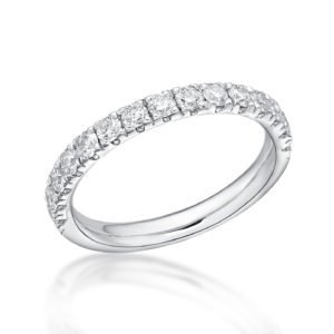 Platinum and Diamond Claw Set Ring 0.60cts