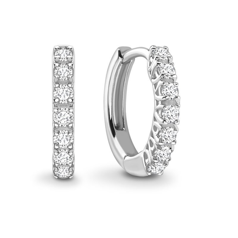 Brilliant Cut Diamond Hoop Earrings 0.23cts