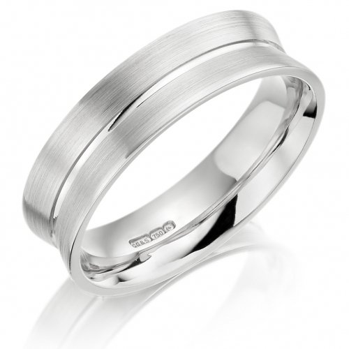 6mm Concaved Gents Wedding Ring