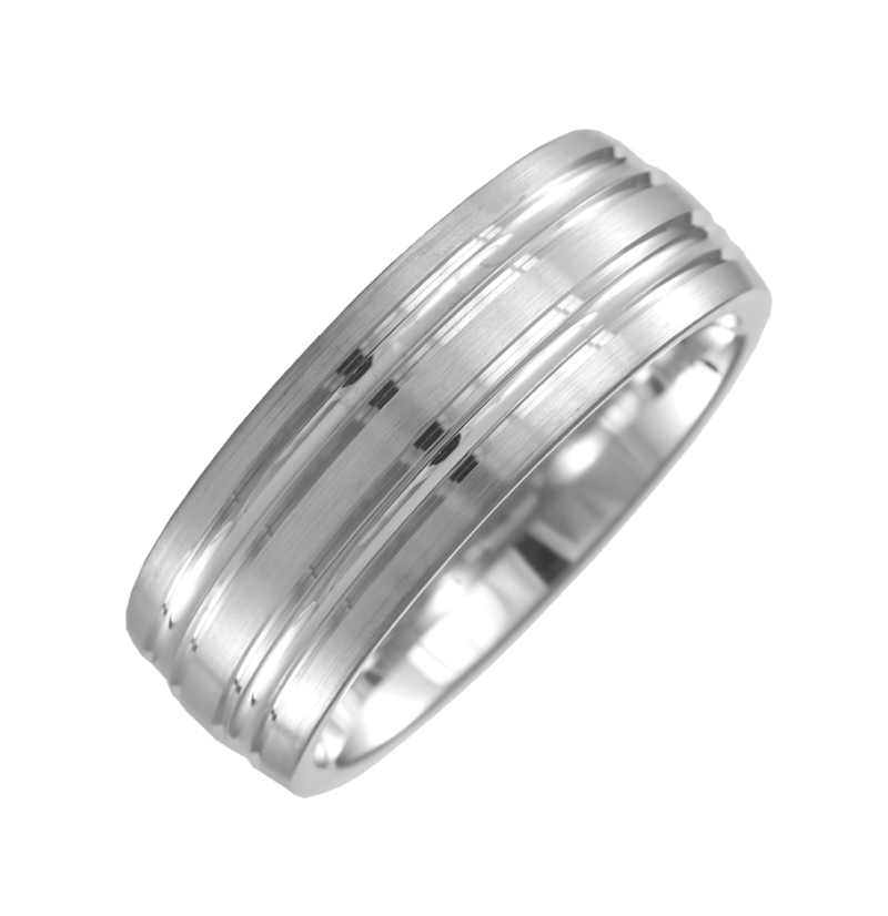 Gents 7mm Heavy Court Wedding Ring