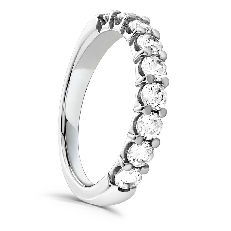 Brilliant Cut Diamond Claw Set Wedding Ring 1.00cts