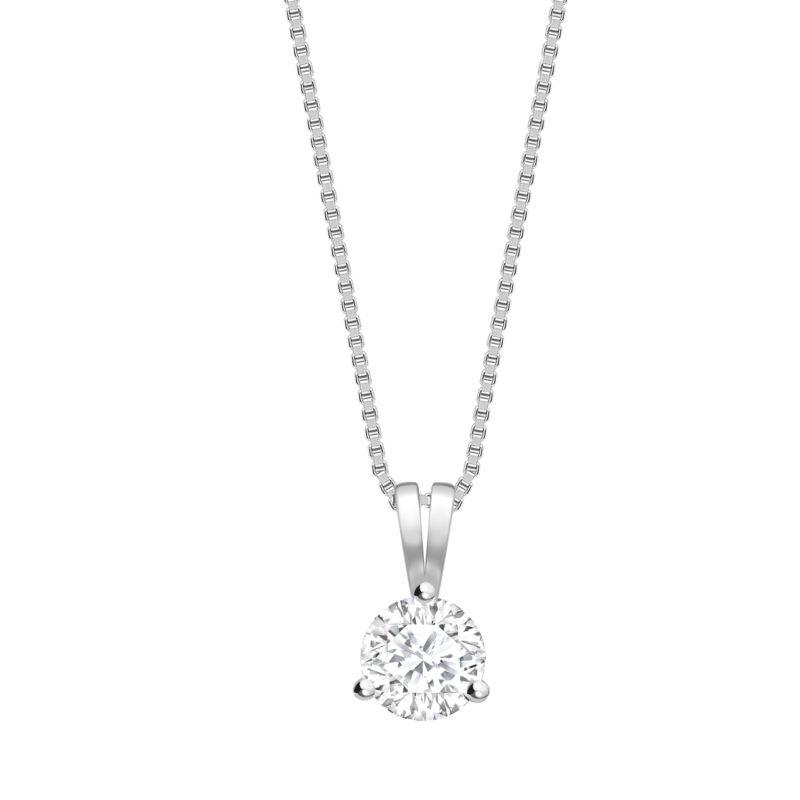 Round Brilliant Cut Diamond Claw Set Pendant 0.20cts