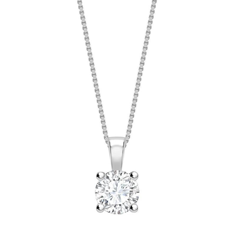Round Brilliant Cut Diamond Pendant 0.20cts