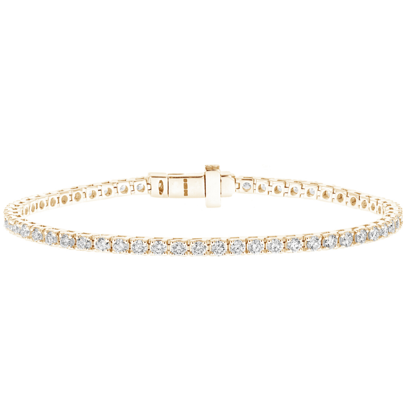 Classic Diamond Tennis Bracelet in Yellow Gold 4.50cts