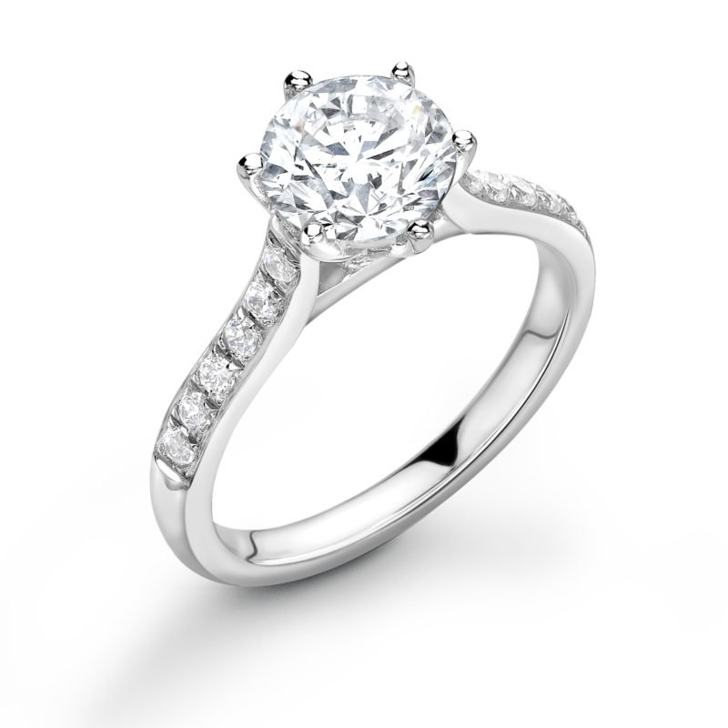2.00ct Diamond Solitaire Engagement Ring in White Gold