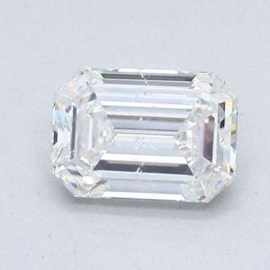 Emerald Cut Diamond Halo Engagement Ring 1.53cts