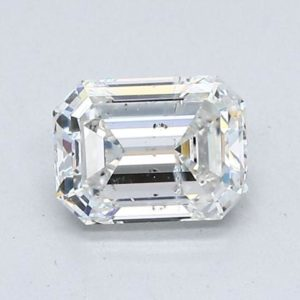 Emerald Cut Diamond Halo Engagement Ring 1.40cts