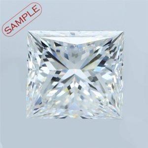 Princess Cut Diamond Engagement Ring 0.30cts
