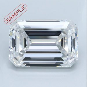 Emerald Cut Diamond Halo Engagement Ring 1.19cts