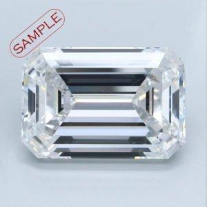 Emerald Cut Diamond Engagement Ring 0.50cts