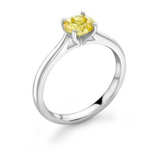 Yellow Diamond Solitaire Engagement Ring 0.33cts