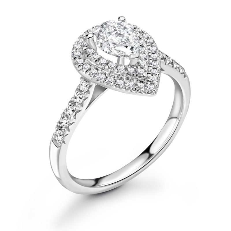 Diamond Double Halo Engagement Ring 1.14cts