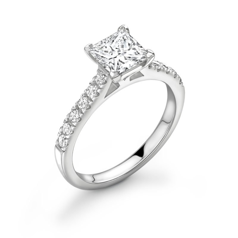 2.00 Carat Princess Cut Diamond Engagement Ring