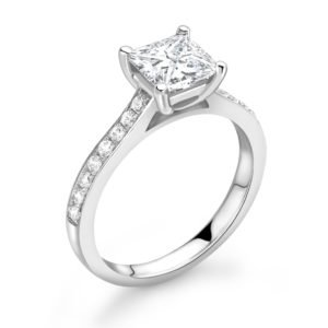Princess Cut Diamond Solitaire Engagement Ring 0.81cts