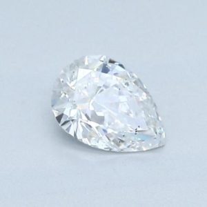 Pear Cut Diamond Halo Engagement Ring 0.77cts