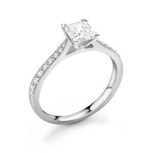 Princess Cut Diamond Engagement Ring 0.44cts