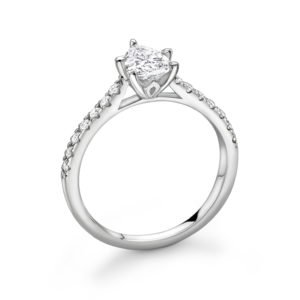 Pear Cut Diamond Solitaire Engagement Ring 1.08cts
