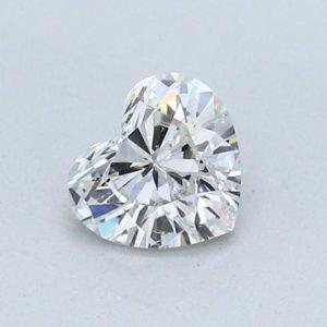 Heart Cut Diamond Halo Engagement Ring 1.00 Carat