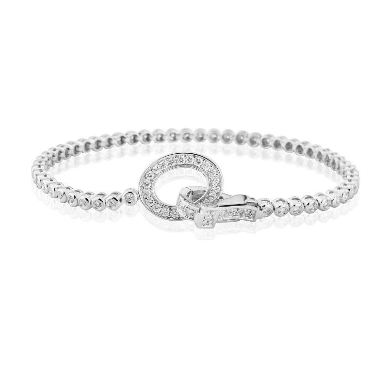 Diamond Rubover Line Bracelet 0.95cts