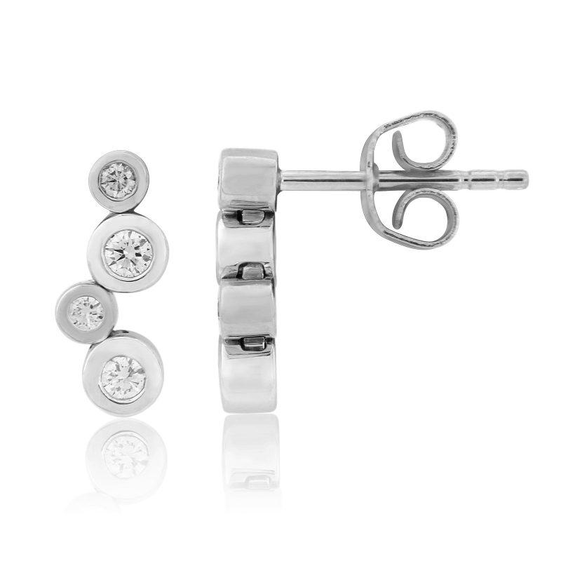 Diamond Rubover Drop Earrings 0.30cts