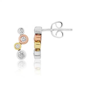 Multi Coloured Diamond Drop Earrings 0.30cts