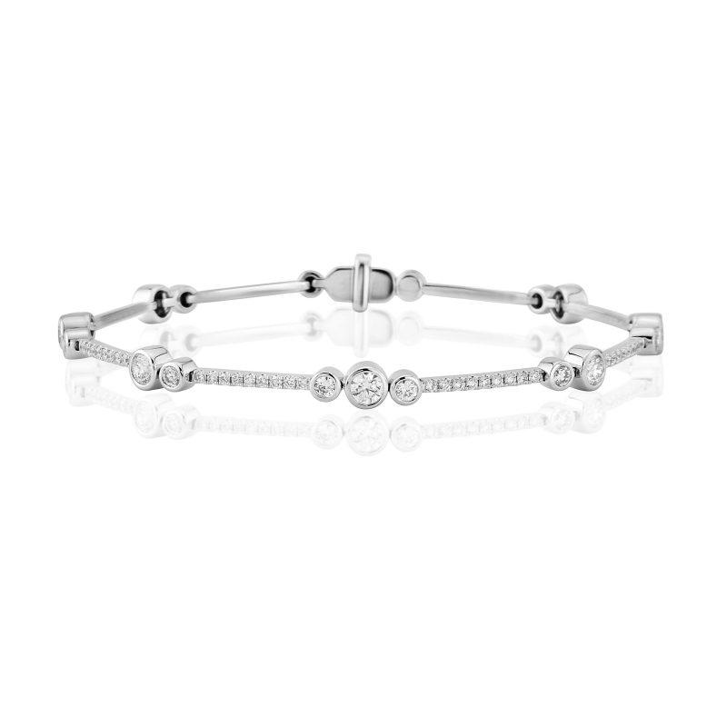 Diamond Bar Link Bracelet 1.50cts