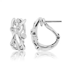18ct White Gold Diamond Earrings 0.24cts