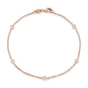 Rose Gold Diamond Bracelet 0.20cts