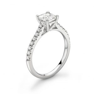 Princess Cut Diamond Engagement Ring 0.55cts