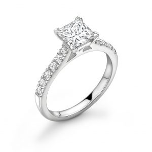 Princess Cut Diamond Engagement Ring 0.94cts