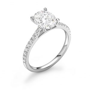 Oval Cut Diamond Engagement Ring 2.21cts
