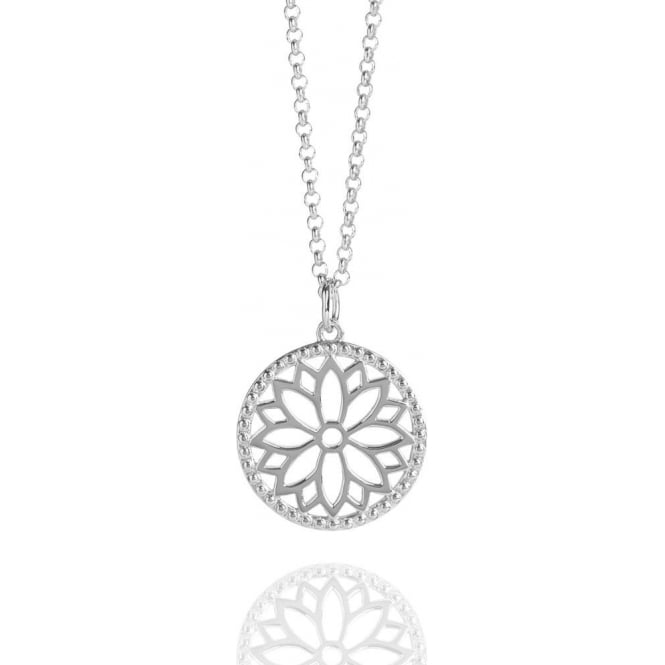 Purity Mandala Charm Necklace Silver