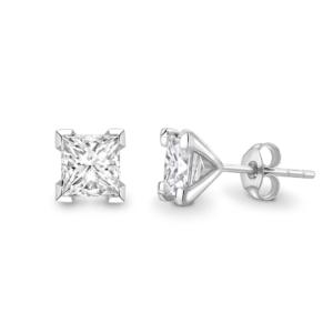 Princess Cut Diamond Stud Earrings 1.00cts