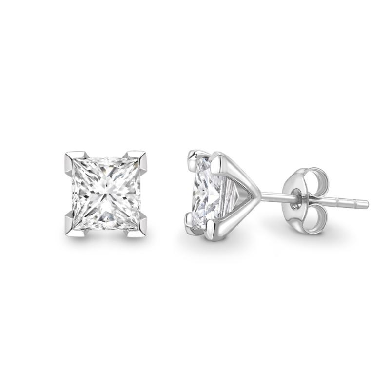 Princess Cut Diamond Stud Earrings 0.25cts