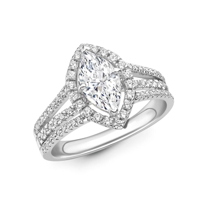 Maquise Cut Diamond Halo Ring 5.98cts